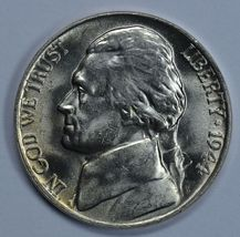 1944 P Jefferson uncirculated silver nickel BU  - $16.00