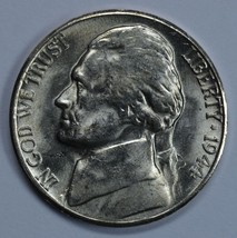 1944 S Jefferson uncirculated silver nickel BU Die crack on reverse - $23.00