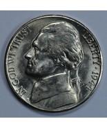 1944 S Jefferson uncirculated silver nickel BU Die crack on reverse - $23.00