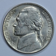 1945 D Jefferson uncirculated silver nickel BU  - $14.00