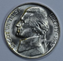 1945 P Jefferson uncirculated silver nickel BU  - $13.00