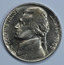 1948 P Jefferson uncirculated nickel BU  - $10.00