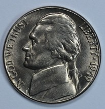 1949 P Jefferson uncirculated nickel BU  - $14.00