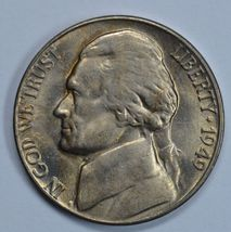 1949 D Jefferson uncirculated nickel BU - $11.00