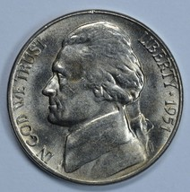 1951 S Jefferson uncirculated nickel BU - $12.00
