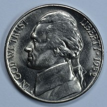 1952 D Jefferson uncirculated nickel BU - $14.00