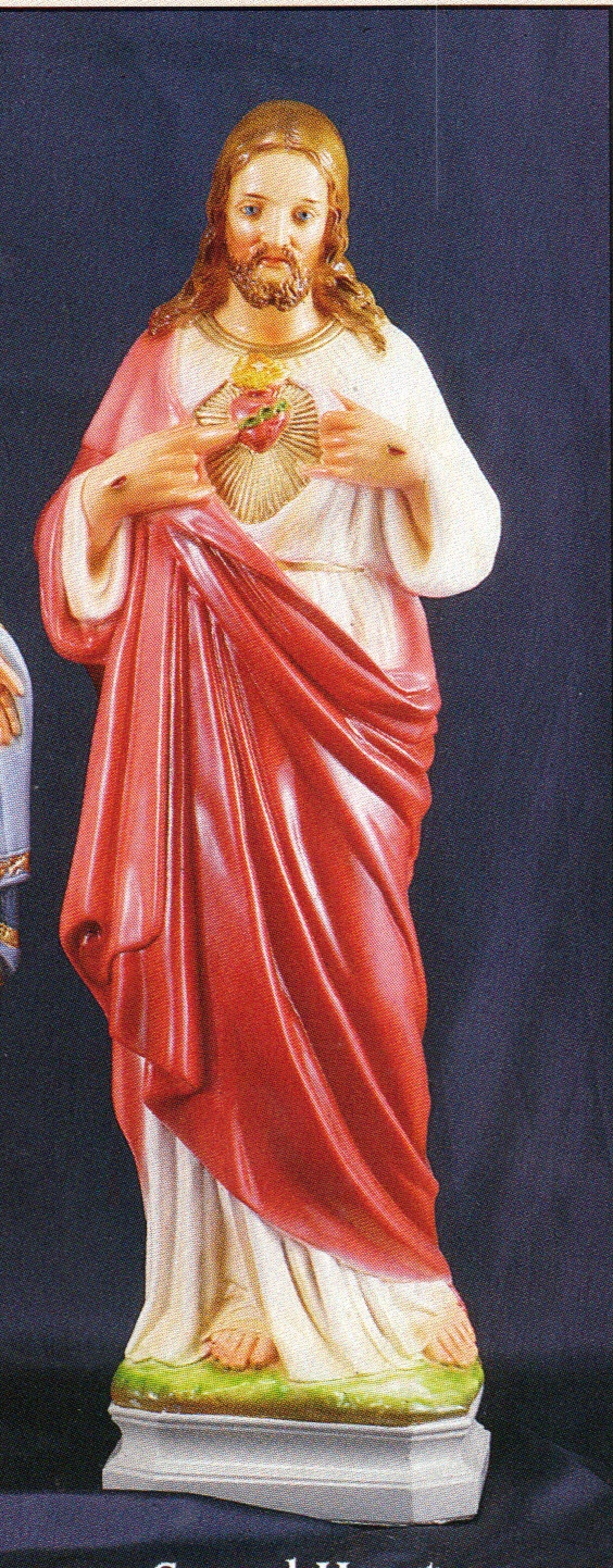 Sacred heart of jesus 24 inch statue