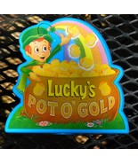 Vintage Lucky Charms Pot of Gold Plastic Bank  dated 1995 - $14.99
