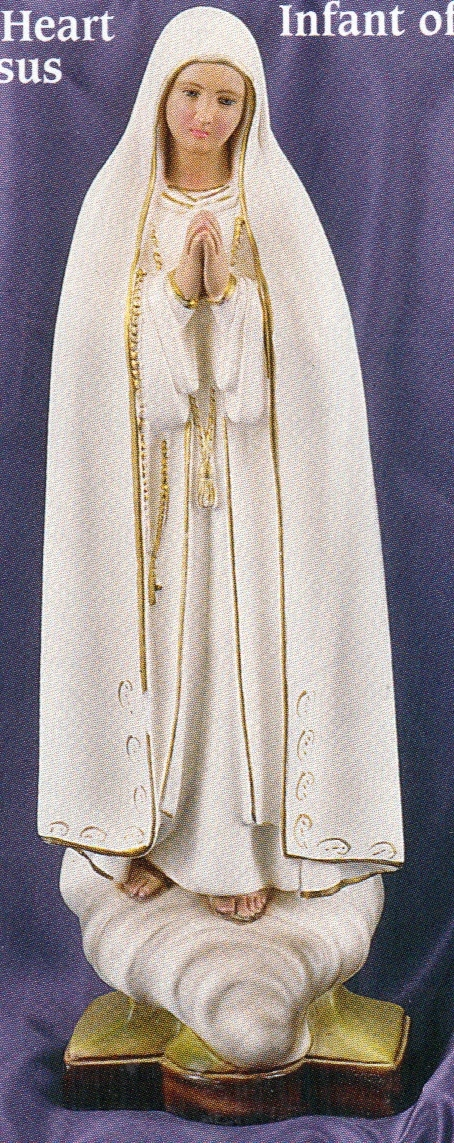 Our lady of fatima 16 inch staue