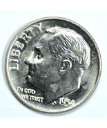 1954 D Roosevelt uncirculated silver dime BU - $10.00