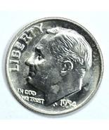 1954 D Roosevelt uncirculated silver dime BU - $178,83 MXN