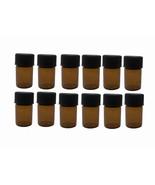 Essential Oil Amber Glass Vials-12 ct- 2ml (5/8 dram) bottles w/Orifice ... - $6.25