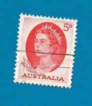 Australia Used Stamp (1963) 5p Queen Elizabeth II - Scott # 366    - $1.99