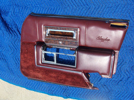 1990 BROUGHAM RIGHT FRONT DOOR PANEL OEM USED ORIG CADILLAC RED MAPLE 19... - $217.80