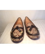 Coach-Frida Signature Khaki Brown Loafers Shoes Sz 7.5 M Ballet shoes flats - $92.12