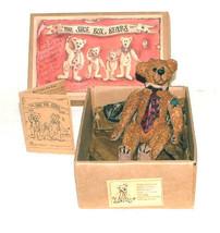 "Boyds Shoe Box Bear ""Augustus ""Gus"" Grizberg"" Style #3200- NIB-  Retired - $9.99"
