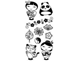 Inkadinkado Asian Characters Clear Stamp Set #99556