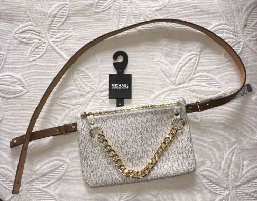 a61f9362680356 Michael Kors Fanny Pack Belt Bag MK Logo and 50 similar items. 12