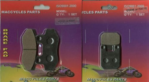 Rieju Disc Brake Pads RR50 Supermotard 1996 Front & Rear (2 sets)