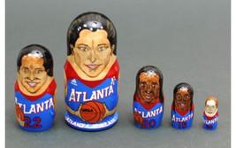 """Atlanta Dream-team matryoshka nesting dolls babushka doll 5pc, 6"""" - $69.90"""