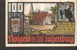 Germany Notgeld d Stadt Lutjenburg 100 Pfennig 1921 - Stadtmotiv Stadtwa... - $5.90
