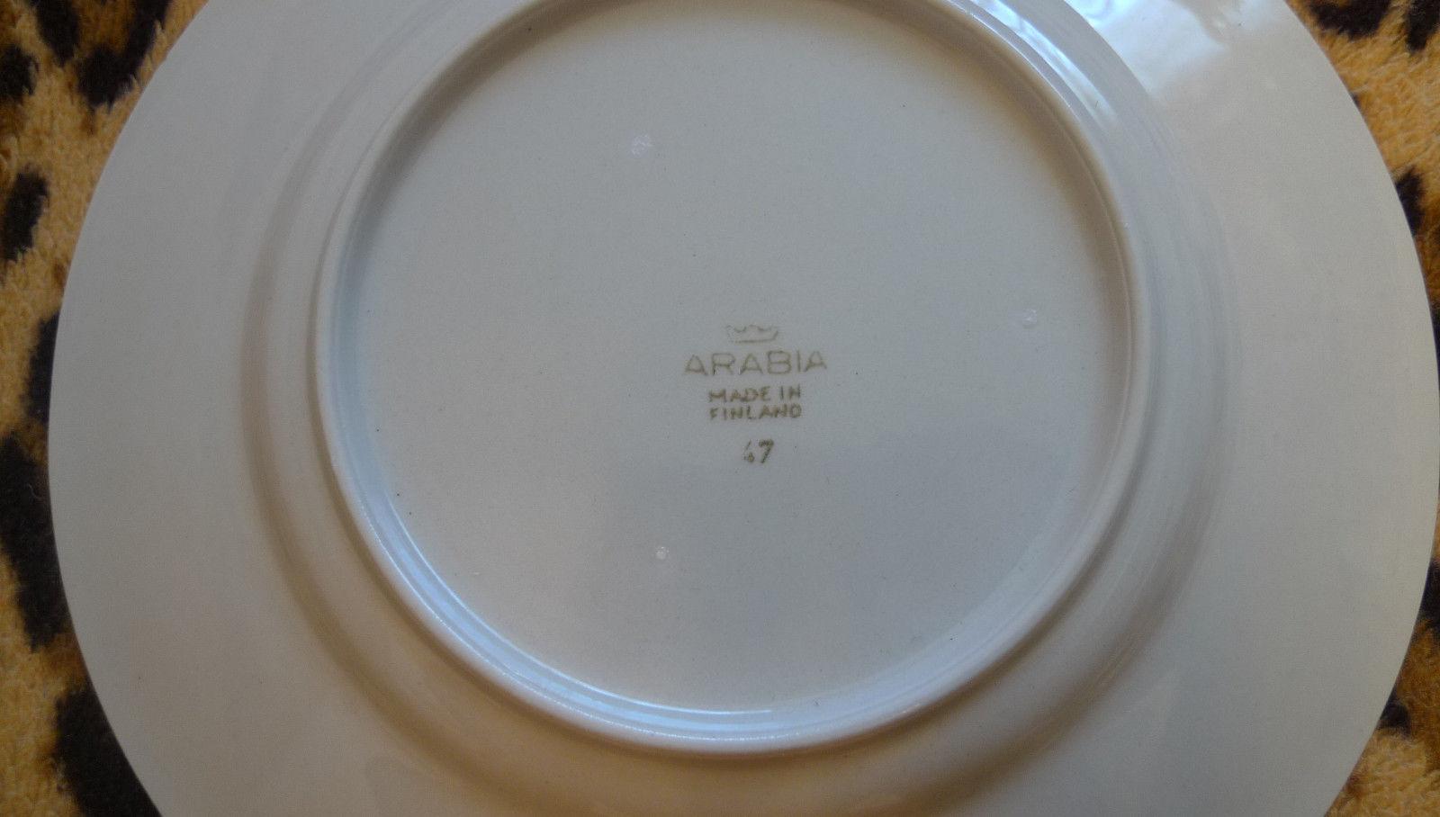 the latest c33b1 20e5a Vintage Retro Arabia Finland green Sointu Design Kaj Franck RARE desert  plate