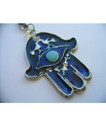 Blue hamsa with wealth bless and evil eye protection from Israel jewish ... - $8.80