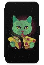 iPhone 6 Plus Case Cosmic Cat   Synthetic Leather Wallet Flip Card Slot ... - $8.77