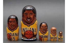 Indiana Pacers nesting doll matryoshka babushka doll  5 pc, 6 inches - $69.90