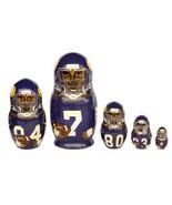 Minnesota Vikings nesting doll matryoshka babushka doll  5 pc, 6 inches - $59.90