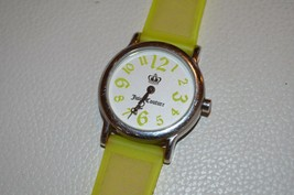 Juicy Couture Ladies Watch Yellow Rubber Silicone Wristband Wristwatch S... - $29.02