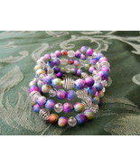 NeW  Memory Wire Cuff Bracelet ~  Multi Strand Multi Colored Beads - $4.99