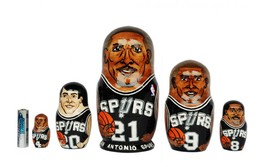 San Antonio Spurs nesting doll matryoshka babushka doll  5 pc, 6 inches - $59.90