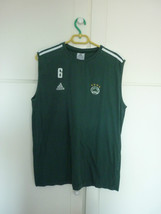 Panathinaikos basketball Adidas training worn shirt from Vasilis Spanoulis #6 - $130.00