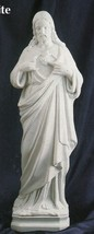 Sacred Heart of Jesus - 24 inch - White Statue