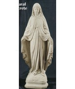 Our Lady of Grace - 24 inch - Natural Concrete Statue - $253.37