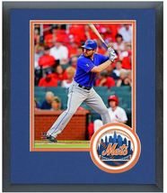 Daniel Murphy 2014 New York Mets - 11 x 14 Team Logo Matted/Framed Photo - $42.95