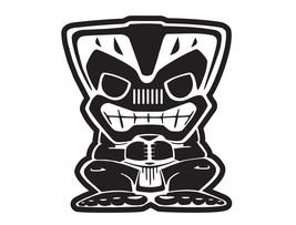 """6"""" in Tiki Bob Vinyl Sticker Decal 4x4 Islander_white color. - $9.99"""
