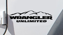 Jeep Wrangler Unlimited Fender Side Custom Vinyl Decals 1 Pair - $15.00