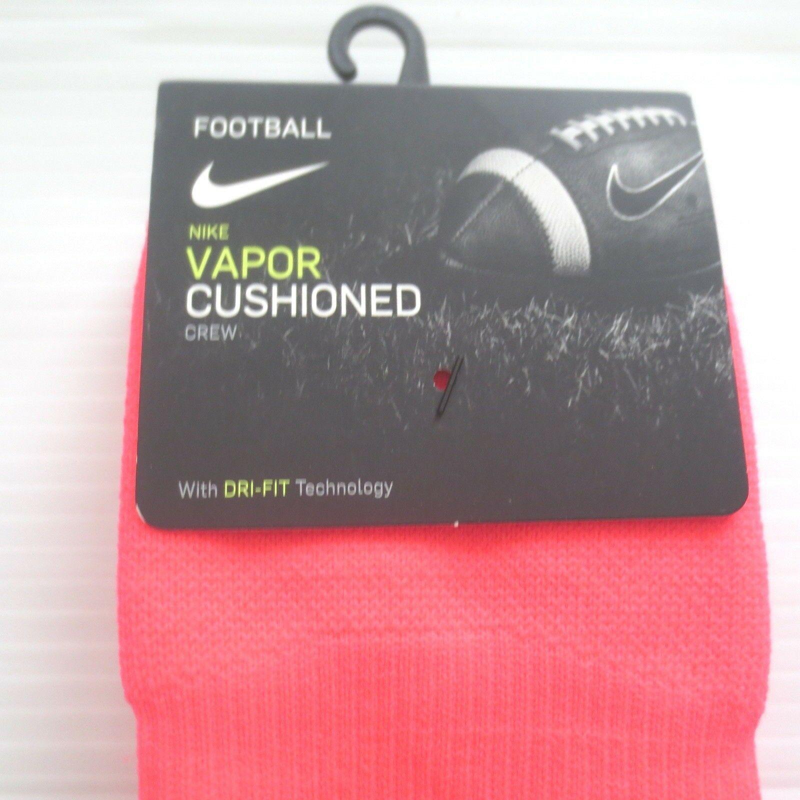 Nike Vapor Crew Football Socks - SX5698 - Pink 617 - Size L - NWT