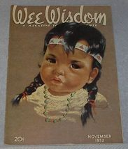 Wee Wisdom November 1952 Children's Magazine Thanksgiving - $6.00
