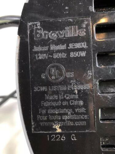 BREVILLE Juicer JE98XL MOTOR BASE ONLY Replacement Part Works Great!