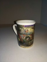 "Thomas Kinkade ""Cobblestone Village"" 1998 Collection Tall Mug Coffee/Tea Cup - $7.99"