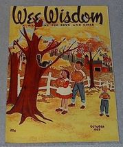 Wee Wisdom October 1953 Children's Magazine Halloween - $6.00