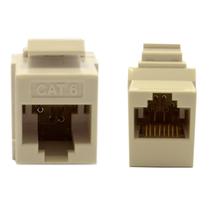 Cat6 Keystone Inline Coupler, White, RJ45 Female 845-326-220WH - $8.42