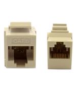 Cat6 Keystone Inline Coupler, White, RJ45 Female 845-326-220WH - $8.71