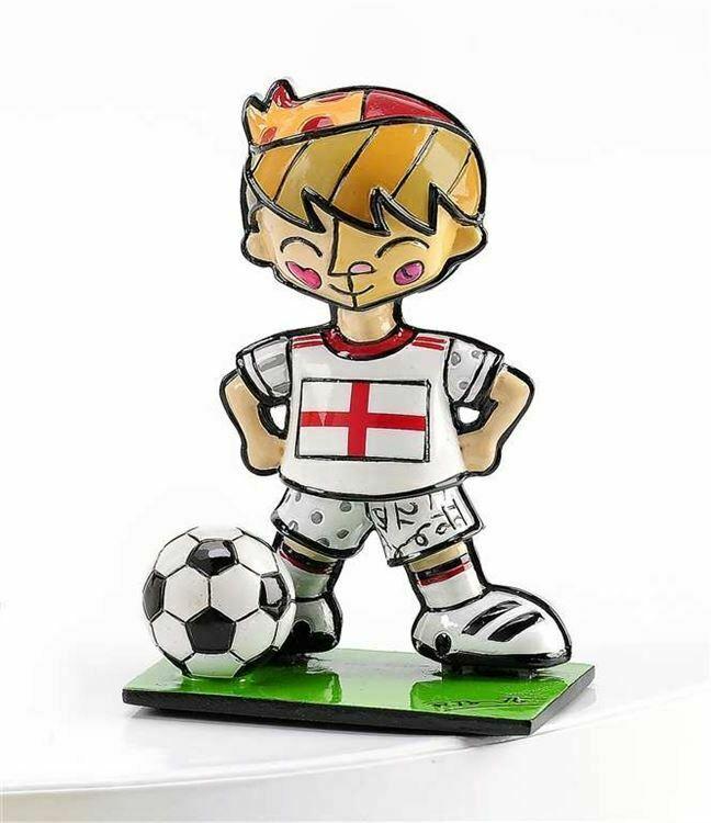 Romero Britto Mini World Cup Soccer Player Mini Figurine England Sports Gift