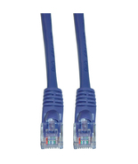 Cat5e Purple Ethernet Patch Cable, Snagless/Molded Boot, 2 Foot 845-10X6... - $7.50
