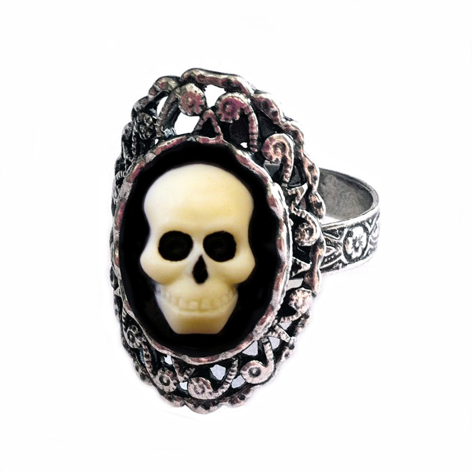 Skull Ring Day Of The Dead Jewelry Halloween Wedding Rings
