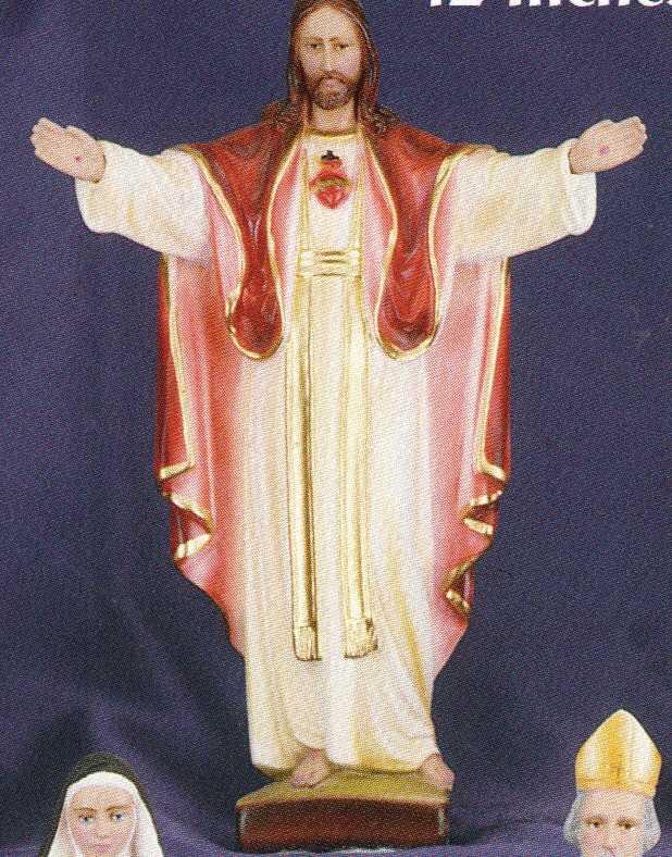 Sacred Heart of Jesus - Blessing - 12 inch Statue